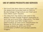 use of amesd products and services