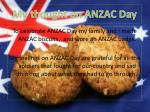 my thought on anzac day