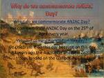 why do we commemorate anzac day