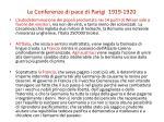 le conferenze di pace di parigi 1919 19202