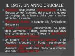il 1917 un anno cruciale