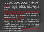 il genocidio degli armeni