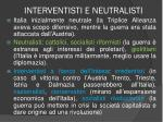 interventisti e neutralisti