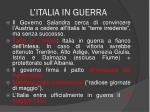 l italia in guerra