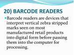 20 barcode readers