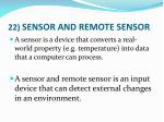 22 sensor and remote sensor