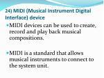 24 midi musical instrument digital interface device