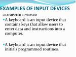 examples of input devices