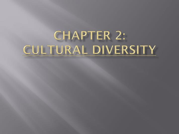 chapter 2 cultural diversity n.