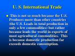 u s international trade1