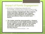 impact of family engagement