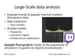 large scale data analysis
