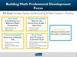 building math professional development focus1