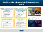 building math professional development focus3
