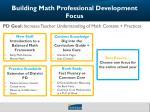 building math professional development focus4