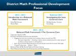 district math professional development focus