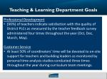 teaching learning department goals