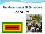 the government of zimbabwe