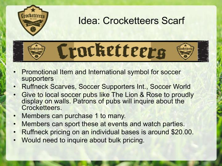 Idea: Crocketteers Scarf