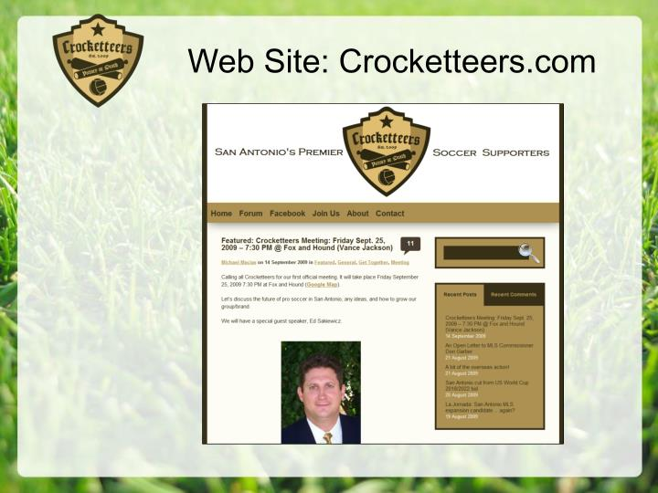 Web Site: Crocketteers.com