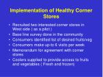 implementation of healthy corner stores