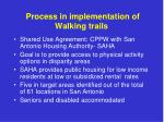 process in implementation of walking trails