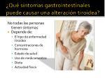qu s ntomas gastrointestinales puede causar una alteraci n tiroidea
