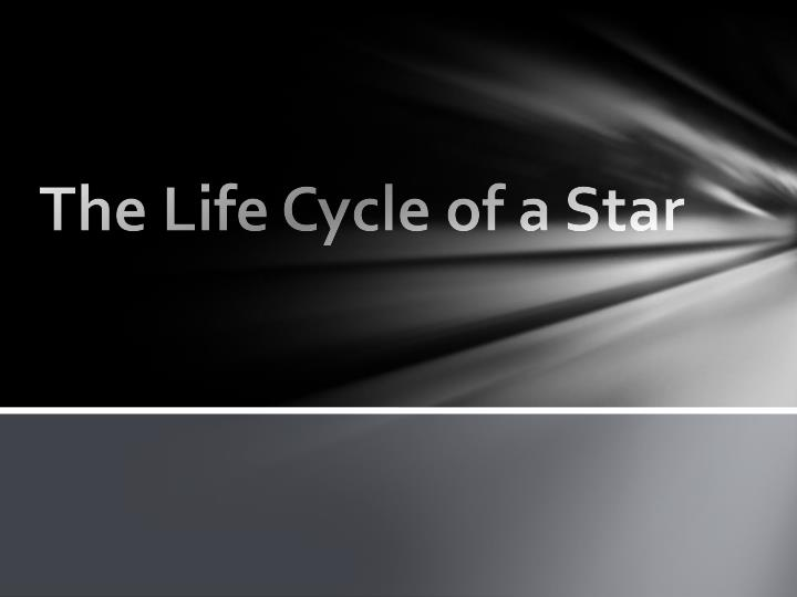 the life cycle of a star n.