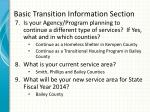 basic transition information section1