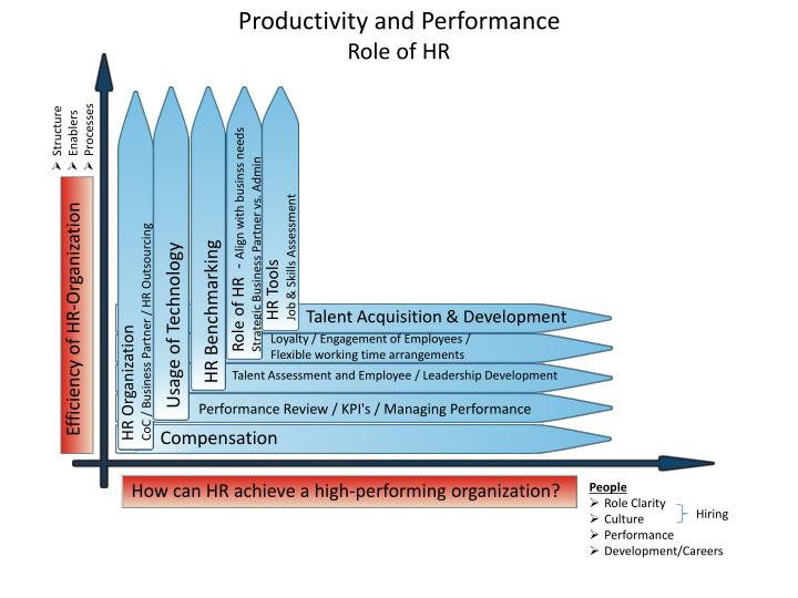 productivity and performance role of hr n.
