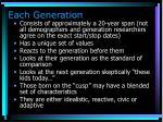 each generation