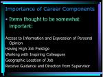 importance of career components1