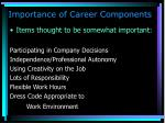 importance of career components2
