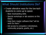 what should institutions do3