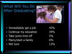 what will you do after graduating