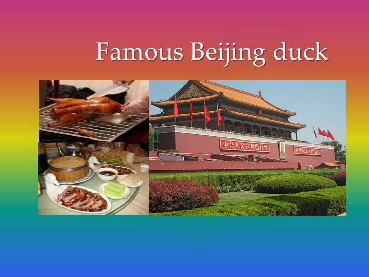 Famous beijing duck
