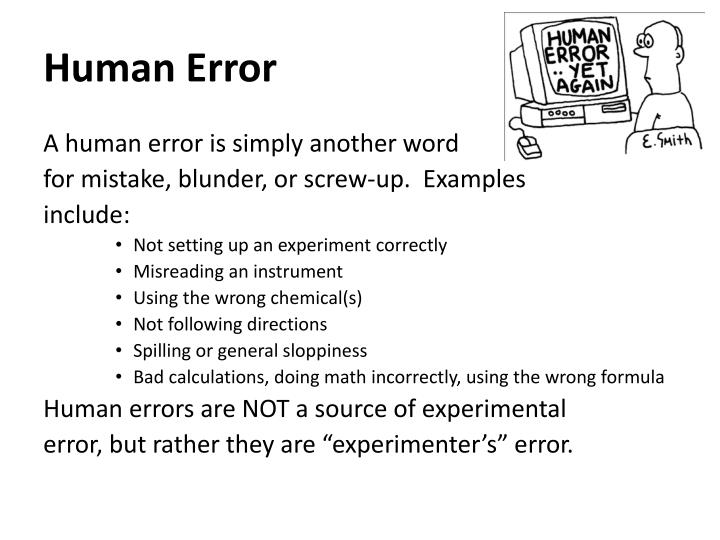 Ppt Experimental Error Powerpoint Presentation Id6506455