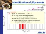 identification of 3p events