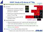 is507 study of b decay of 20 mg
