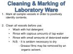 cleaning marking of laboratory ware