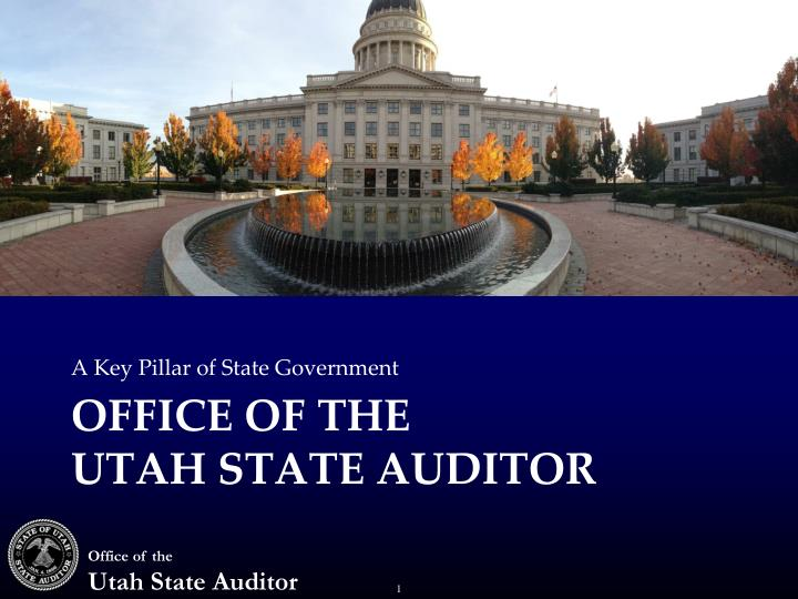 office of the utah state auditor n.
