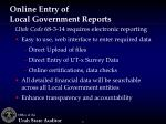 online entry of local government reports