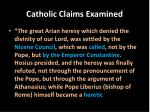 catholic claims examined5
