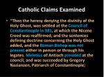catholic claims examined6