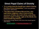 direct papal claims of divinity1