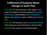 fulfillment of scripture about changes in god s plan2