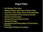 papal titles