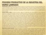 proceso productivo de la industria del vidrio laminado3