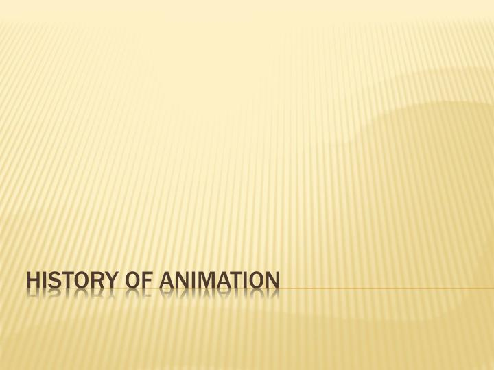 history of animation n.