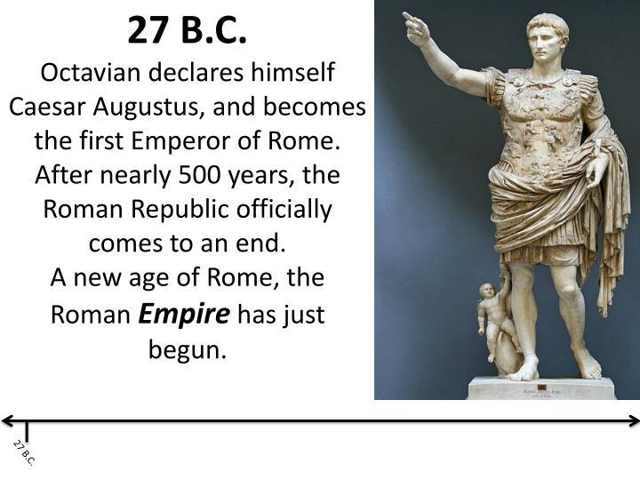 27 B.C.